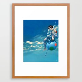"""Le solitaire"" Framed Art Print"