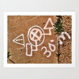 Philadelphia Marking Art Print