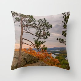 Eagle cliff pines Throw Pillow