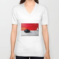 asia V-neck T-shirts featuring Asia design by LoRo  Art & Pictures