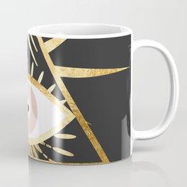 gold foil triangle evil eye Coffee Mug