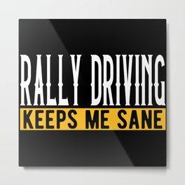 Rally Driving Gift Idea Lovers Design Motif Metal Print