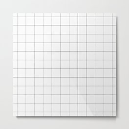 Thick windowpane grid Metal Print