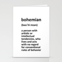 bohemian Stationery Cards featuring bohemian by bohemianizm