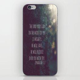 Zephaniah 3 Mighty Save iPhone Skin