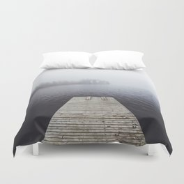Fading into the mist Duvet Cover