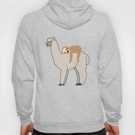 Cute & Funny Sleepy Sloth & Llama Hoody