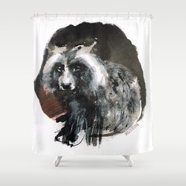 Totem  Racoon dog Shower Curtain