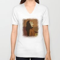 ethnic V-neck T-shirts featuring Ethnic.. by Viviana Gonzalez