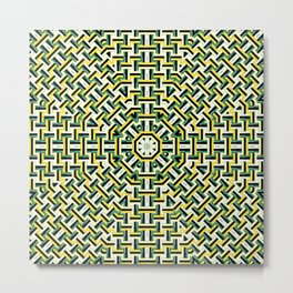 Kaleidoscope design with trendy geometric patterns Metal Print