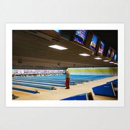Old Man Bowling Art Print
