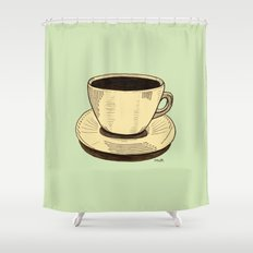 good ol' cup of coffee, I. Shower Curtain