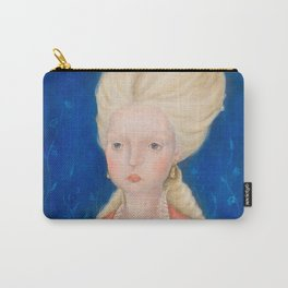 Lady in a Pink Dress Carry-All Pouch