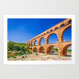 Pont du Gard, Provence Art Print