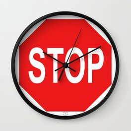 STOP Sign by Orikall Wall Clock