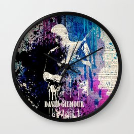 DAVID GILMOUR on dictionary Wall Clock