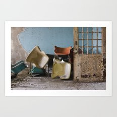 Asylum Chairs Art Print
