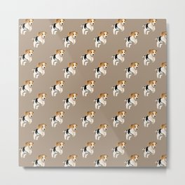 Beagle Pattern Metal Print