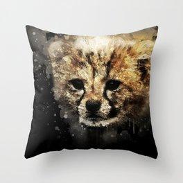 Cheeta Cub Throw Pillow