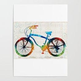Colorful Bike Art - Free Spirit - By Sharon Cummings Poster