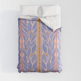 Blue Leaves on Lavender Comforters