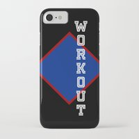 workout iPhone & iPod Cases featuring WORKOUT by Gravityx9