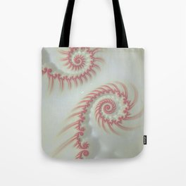 Candy Cane Swirl Pastel - Fractal Art Tote Bag