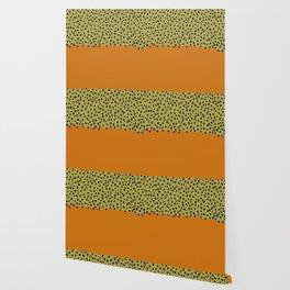 Abstract orange mid century art Wallpaper