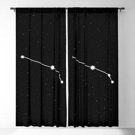 Aries Star Sign Night Sky Blackout Curtain
