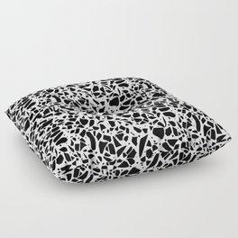 Terrazzo Spot 2 Black on White Floor Pillow