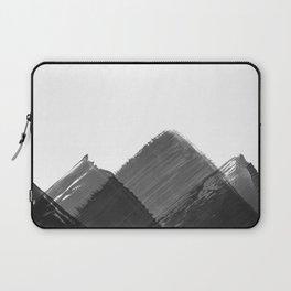 Minimalist Mountain Ink Art Print Laptop Sleeve
