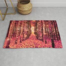 Magical Forest Pink Living Coral Peach Rug