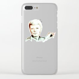 David Bowie Starman with Ciggy 3 Clear iPhone Case
