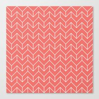 chevron Canvas Prints featuring Chevron by Dizzy Moments
