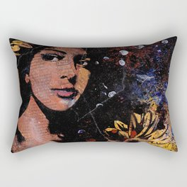 untitled #28914 (sunflowers bikini girl) Rectangular Pillow
