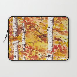 Fall Birch Trees Laptop Sleeve