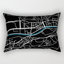 Sarajevo city map black colour Rectangular Pillow