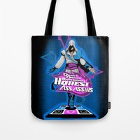 assassins creed Tote Bags featuring Assassins Creed Revolution  by Arqhfredo