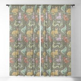 herb dragons Sheer Curtain
