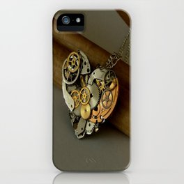 Steampunk Heart of Gold and Silver iPhone Case