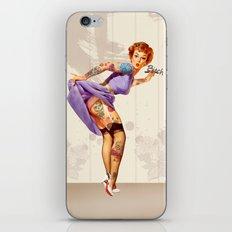 Redhead pin-up iPhone & iPod Skin