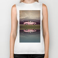 never stop exploring Biker Tanks featuring NEVER STOP EXPLORING VII by Monika Strigel