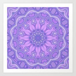 Purple Kaliedoscope Art Print