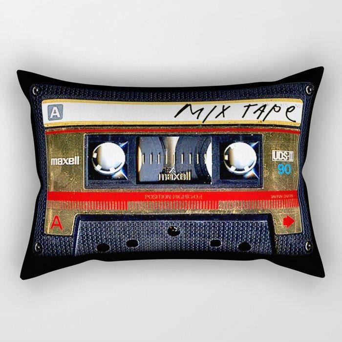 classic retro Gold mix cassette tape iPhone 4 4s 5 5c, ipod, ipad, tshirt, mugs and pillow case Rectangular Pillow