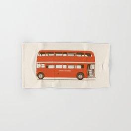 Red London Bus Hand & Bath Towel