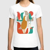 background T-shirts featuring Flock of Birds by Picomodi
