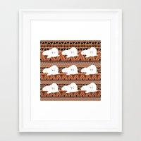 walrus Framed Art Prints featuring WALRUS by Georgie Smart