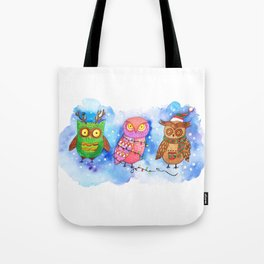 Christmas Owlies v2.0 Tote Bag