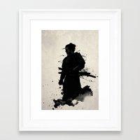 samurai Framed Art Prints featuring Samurai by Nicklas Gustafsson