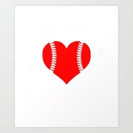Valentine Gift. Tee For Sofball Lover. Art Print